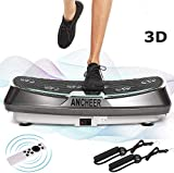 ANCHEER 2 Motoren 3D Vibrationsplatte für Body Shape Muskelaufbau, Power Fitness Vibrationstrainer...